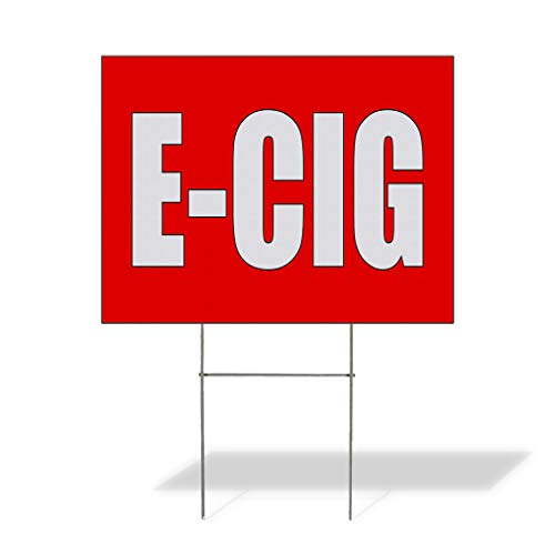 Plastic Weatherproof Yard Sign E Cig General Business White Electronic Cigarette for Sale Sign Multiple Quantities Available 18inx12in One Side Print One Sign