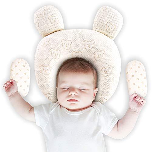 Upchase Almohada Para Bebé, Recien Nacido Plagiocefalia Almohada Ortopédica, Bebe Para Evitar...