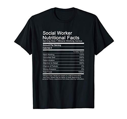 Trabajador social Información nutricional Graduación Decir Camiseta