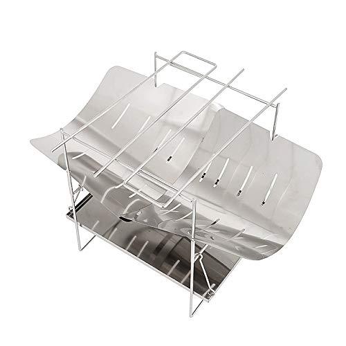 Fransande - Estufa de leña para camping, estufa calefactora plegable, ultraligera para camping, al aire libre, picnic, cocina