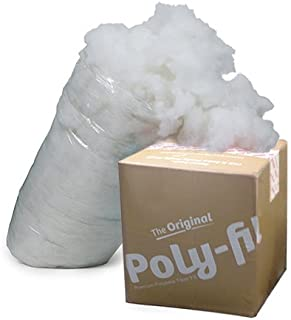 Fairfield the Original Poly-Fil Premium 100% Polyester Fiber Fill Box, 6.5 Pounds, White