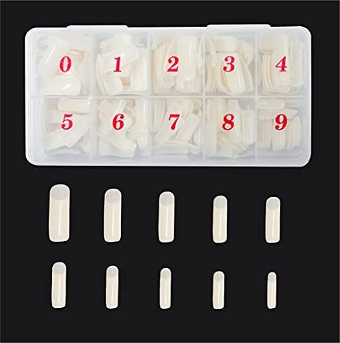 Nail Tips, Acryl 500 Stück, Nageltips, Nägel zum aufkleben, Fake Nails,
