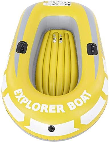 LONGJIQ Barco Inflable de la Canoa Inflable, fácil de Plegar con Dos Soportes de paletas para Dos Personas para la navegación Fantastic