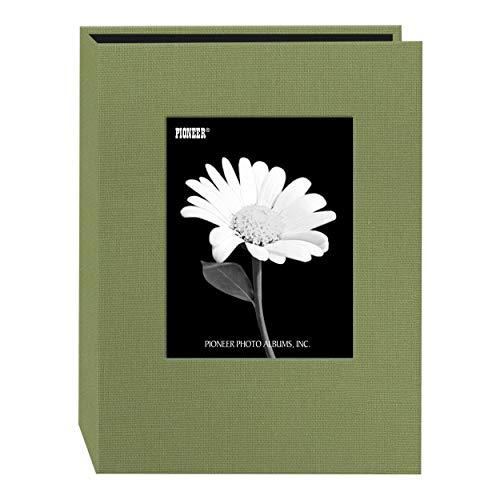 Pioneer Photo DA-57CBF/SG 24-Pocket Frame Cover Album for 5 by 7-Inch Prints, Sage Green Fabric