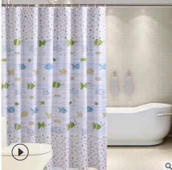 MHwan tende fantasia moderne, tenda vasca, Tende da doccia in tessuto extra lunghe impermeabili Tende lavabili in tessuto antibatterico per bagno, 180X200CM