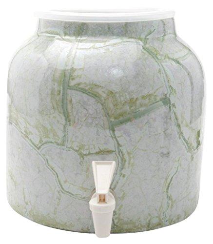 Bluewave Marble Design Water Dispenser Crock, Green