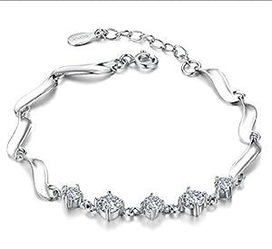 Private Twinkle 925 Sterling Silver Crystal Five Bracelet