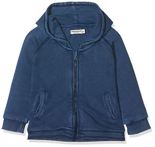 Imps & Elfs U Cardigan Hoody Long Sleeve Gilet, Bleu (Indigo Blue Dyed P360), 58 (Taille Fabricant: 56) Mixte bébé