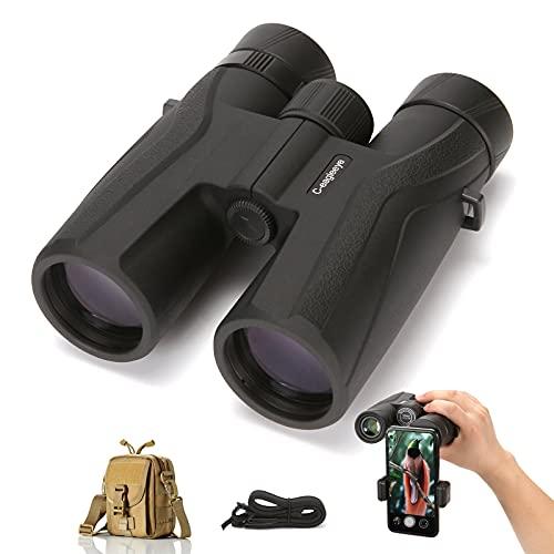 Ceagleeye 10x42 Best Binoculars for Adults Hunting Bird Watching Roof Prism Binoculars Best HD Lightweight Binoculars for Stargazing and Planets Low Light Night Vision Waterproof Binoculars BAK4FMC