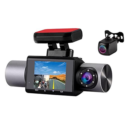 2 '' 3 Lentes Dash Cam 4G HD 1080P Pantalla IPS Coche DVR 260 ° Auto Grabador De Video Digital Cámara Dashcm GPS Incorporado G-Sensor Dvrs Para Automóvil