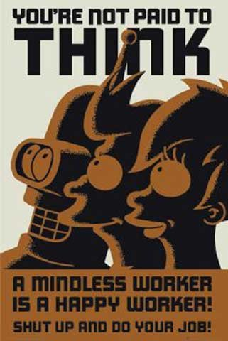 Futurama Poster You're not paid to think (61cm x 91,5cm) + Ü-Poster