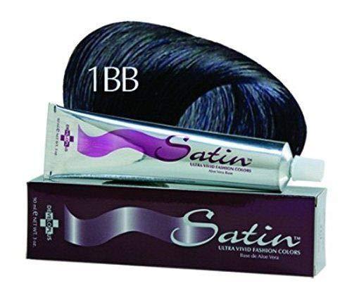 Satin Ultra Vivid Fashion Hair Colors 1BB BLUE BLACK 3 oz by Developlus