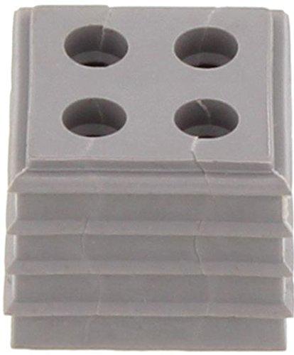 Conta-Clip 28673.6 Kabeldurchführungssystem KDSClick, Dichtelement KDS-DE 4x5 GR, Montageart: Stecken, Länge x Breite: 20,3 mm, Kabeldurchmesser max.: 5 mm, IP 66, Farbe: Grau, 10 Stück