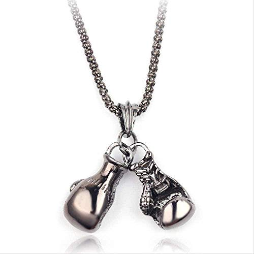 BEISUOSIBYW Co.,Ltd Halskette Geschenke Mode Mini Boxhandschuh Anhänger Halskette Gold Silber Farbe Hip Hop Schmuck Zubehör Fitness Geschenke für Sportliebhaber