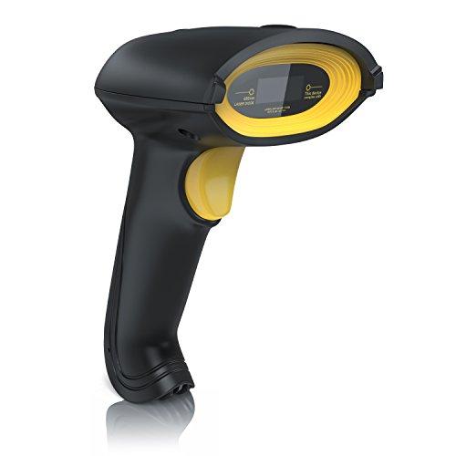 CSL - Laser Barcodescanner - Kabelgebundener Handscanner Handheld Scanner - Lesegerät USB - 6 Scan-Modi - präzises und schnelles Lesen - einfache Installation - IP54
