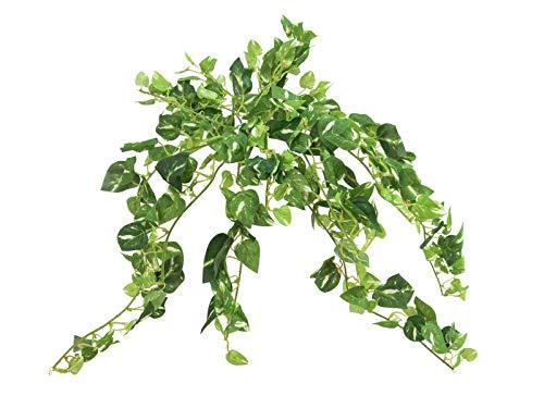 artplants.de Set 'Guinalda de poto Artificial + Spray de protección UV' - Liana de potus sintética...