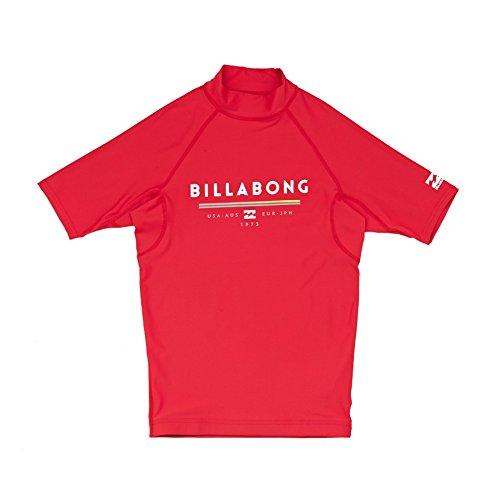 BILLABONG Kids Youth Junior Unity Kurzarm Quick Dry Leichte Rash Weste Top Rot - Traditioneller Stehkragen