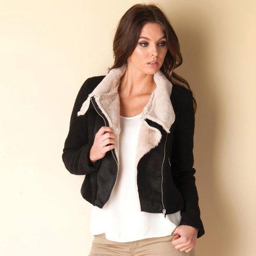 Vero Moda Womens Calm korte jas in zwart
