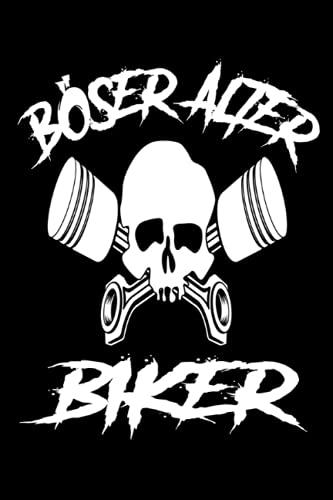 Böser Alter Biker: Motorrad Biker Dirtbike Motorradfahrer Notizbuch I Motorrad Kolben Totenkopf Notebook (A5 6