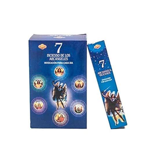 AROMASENSES Incienso 7 Arcangeles Sac .- 12 Paquetes de 35 Varillas Cada uno.