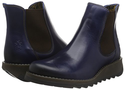 FLY London Salv Ladies Boot Blue Rug UK4 EU37 US6.5/7