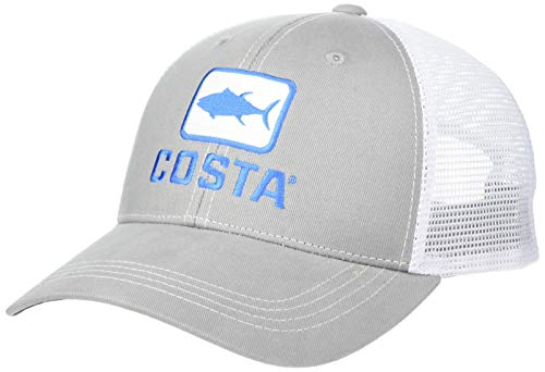 Costa XL Trucker Hat, Tuna, Gray + White