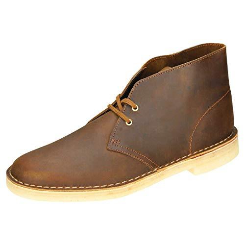 Clarks Originals Herren Kurzschaft Stiefel Desert Boots, Braun (Beeswax Leather), 41.5 EU