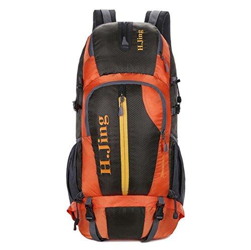 50L Sac d'alpinisme professionnel sac à bandoulière grande capacité camping en plein air , orange