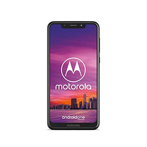 moto one Smartphone (14,98 cm (5,9 Zoll), 64 GB interner Speicher, 4 GB RAM, Android one ) Schwarz, inkl. Schutzcover