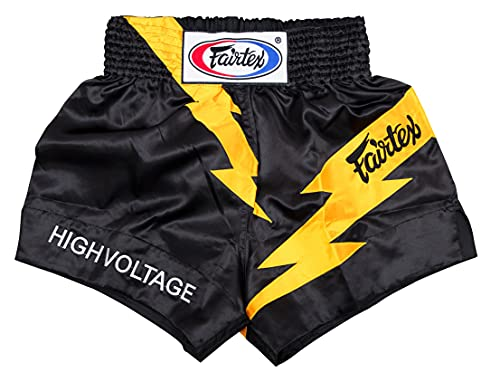 Fairtex Muay Thai Boxing Shorts Traditional Styles (BS0656 High Voltage, Small)