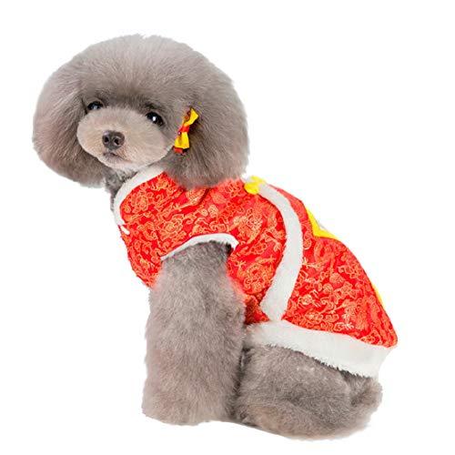Bluelucon 2020 Modieuze nieuwe huisdierkostuum, Chinese stijl tang, herfst winter comfort kat hondenjas hondenkleding