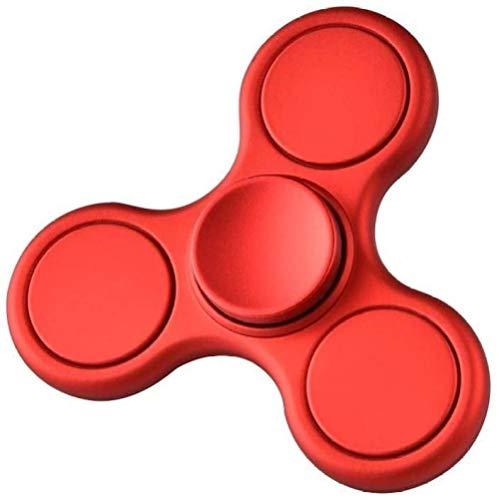 Spinner de mano para adultos de descompresión, para practicar giros; juguete antiestrés para niños (color: rosa y rojo)