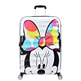 American Tourister DISNEY Wavebreaker Spinner Luggage Large, Minnie Close-Up, Checked – Large (Model:85673-6977)