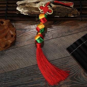 weichuang Handmade Silky Tassels Chinese Lucky Knot Tassels Diy Craft 10 pcs Chinese Knot Silk Tassel Wholesale Chinese New Year Gifts Handbag Tassel Decoration (Color : Rose, Size : S)