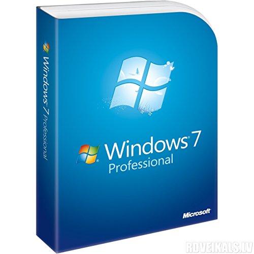 Microsoft Windows 7 Professionnel 32-bit/64-bit 1 utilisateur | Livraison éco-responsable [Certificat de licence expédié par lettre suivie]