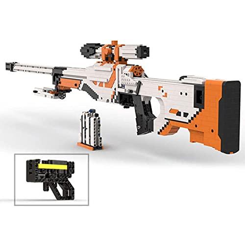 HYZH Juego de construcción AWP, compatible con rifle Lego