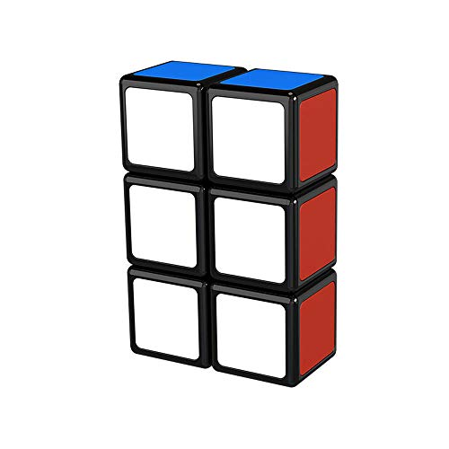 OJIN MO Fang GE 1x2x3 Cube Puzzle One Layer 1x2x3 Black Puzzle Cube Smooth Cube Turning Cube Toy para Principiantes (1x2x3)