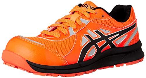 [アシックス] ワーキング 安全靴/作業靴 ウィンジョブ CP206 Hi-Vis JSAA A種先芯 耐滑ソール 高視認 αGEL搭載 ショッキングオレンジ/ブラック 25.0