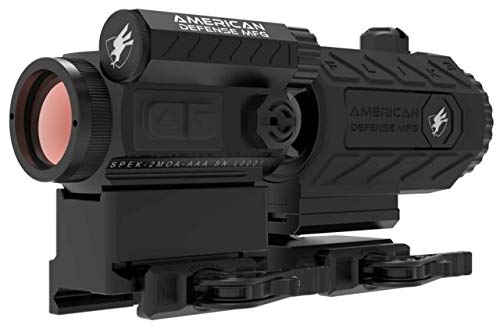 Buy Cheap American Defense Manufacturing Duo 3-Spek Red Dot Sight w/ Flik3 Fixed Power 3X RD-T1-CO-3...