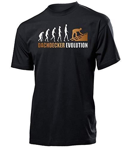 Golebros Dachdecker Evolution 4605 Herren Männer Arbeitskleidung Aufdruck Lustig Spruch Tshirt Geburtstag Geschenk Schwarz XXL