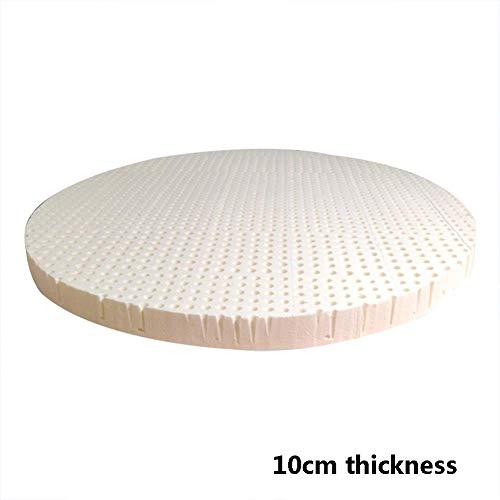 Natürliche runde Matratzenauflage, atmungsaktiv, langlebig, abnehmbar und waschbar. Schlafunterstützende und druckentlastende Matratze für Studentenwohnheime - 200 x 200 cm (79 x 79 Zoll)