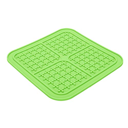 jieGorge Dog Lick Mat Dog Slow Feeder Pet Calming Mat Anxiety Relief Dog Cat Licking Mat, Pet Supplies, for Christmas Day (Green)