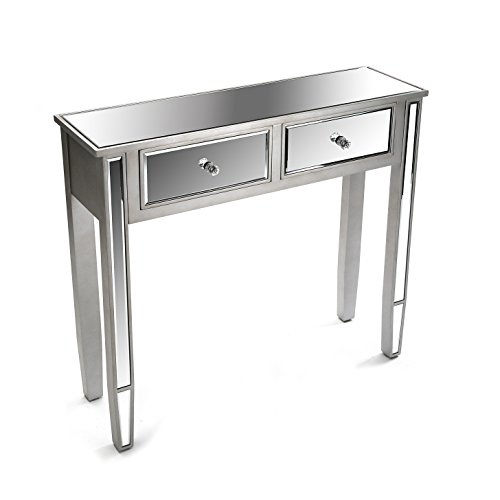 Versa 21020007 salontafel Marsala, hout, 80 x 26 x 90 cm, zilverkleurig, consoletafel