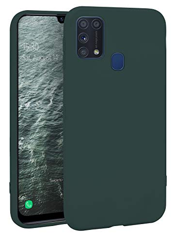 MyGadget Silikon Hülle für Samsung Galaxy M31 - robuste Schutzhülle TPU Hülle Slim Silikonhülle - Back Cover Ultra Kratzfest Handyhülle - Matt Olivgrün