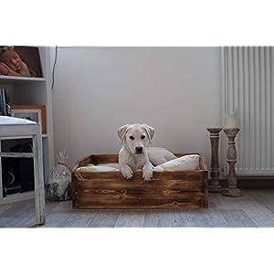 Hundebett Hundeschlafplatz Hundekoje Holzbett