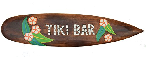 Interlifestyle Tiki Bar - Tabla de surf (100 cm), diseño hawaiano