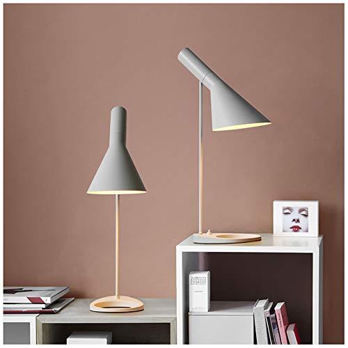 FGART Tischlampe LED Augenschutz Tischlampe E27 Lampenfassung Aj Tischleuchte Schreibtisch Hotel Wohnzimmer Schlafzimmer Nachtzimmer Projekt Licht,Weiß