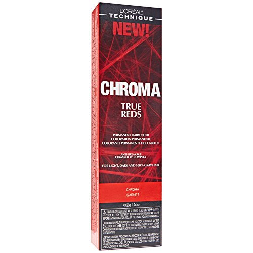 Loreal Chroma True Reds Hair Color - Garnet 1.74 Ounce (51ml) (6 Pack)