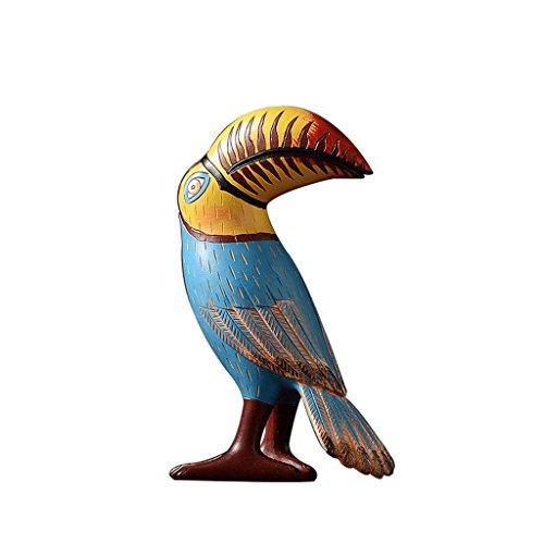 TV Statue Tropical Rainforest Oiseau Sculpture Salon Cabinet Ornements Style Européen Maison Échantillon Chambre Rollsnownow (Couleur : C)