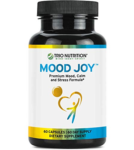 Trio Nutrition Mood Joy 5-HTP Capsule Traditional Herbs: St Johns Wort, Ashwagandha, Turmeric Stress Relief to Promote: Emotional Health, Relaxing Sleep, Anxiety & Depression Relief